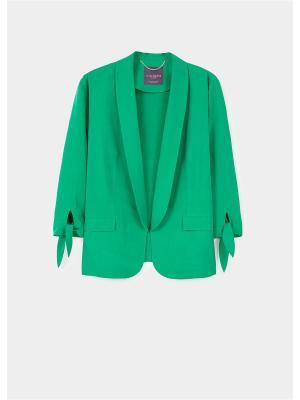 Пиджак Violeta by Mango. Цвет: зеленый