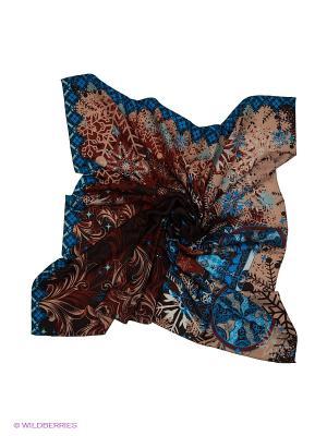 Платок Eleganzza. Цвет: бордовый, бежевый, синий