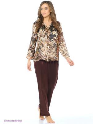 Пижама Del Fiore. Цвет: коричневый