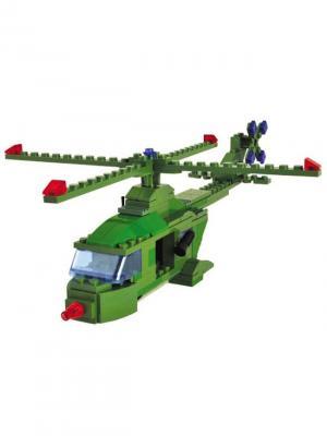 Конструктор SuperBlock Военные маневры Вертолет XL Склад Уникальных Товаров. Цвет: зеленый
