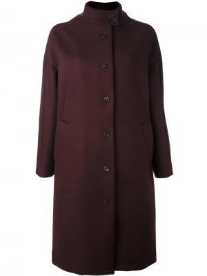 Однобортное пальто Aalto. Цвет: розовый и фиолетовый