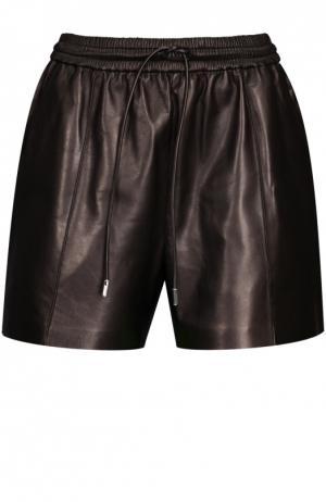 Кожаные шорты Givenchy. Цвет: черный