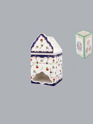 Банка для чайных пакетиков Цветочек Elan Gallery. Цвет: синий, зеленый, красный, белый