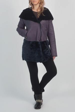 Дубленка STEVEN-K. Цвет: фиолетовый
