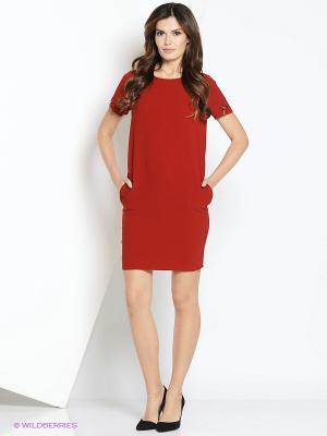 Платье adL. Цвет: терракотовый
