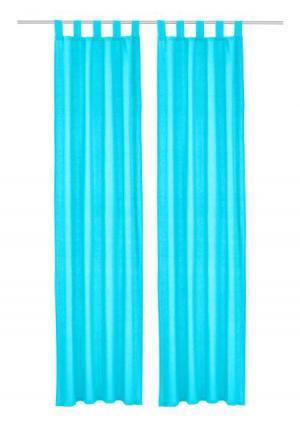 Штора Farah, 2 штуки MY HOME. Цвет: разноцветный, синий