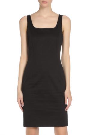 Платье на широких бретелях с двумя разрезами SEVENTY. Цвет: черный