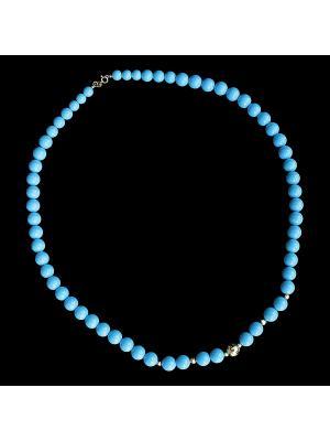 Ювелирное ожерелье Диковинка. Цвет: бирюзовый