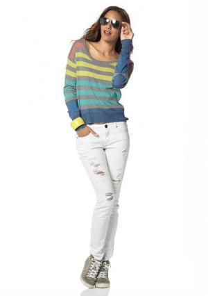 Пуловер AJC. Цвет: темно-синий/бирюзовый, темно-синий/молочно-белый, темно-синий/фуксия
