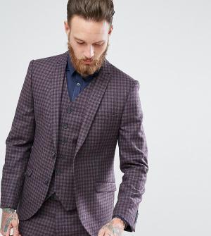 Heart & Dagger Облегающий пиджак в клетку. Цвет: серый