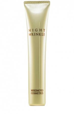 Ночная эмульсия для лица против морщин Night Wrinkle N Mikimoto Cosmetics. Цвет: бесцветный