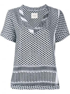 Рубашка с короткими рукавами Cecilie Copenhagen. Цвет: чёрный