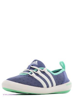 Обувь Для Водных Видов Спорта Жен. Climacool Boat Slee Adidas. Цвет: синий