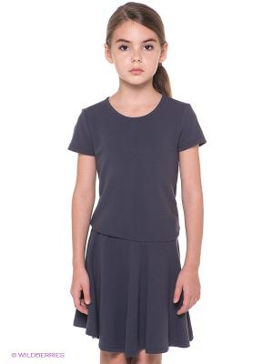 Платье NAME IT. Цвет: темно-серый