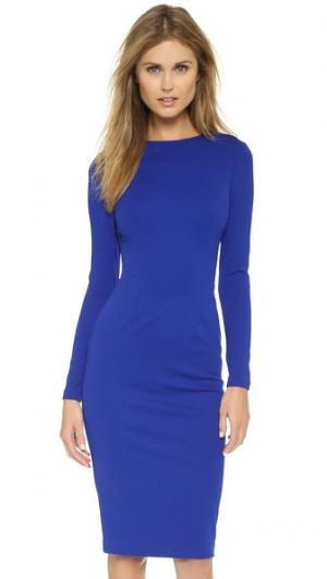 Платье с длинным рукавом 5th & Mercer. Цвет: фуксия