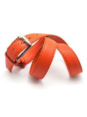 Ремень костюмный Angelo Bonetti. Цвет: оранжевый