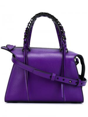 Мини сумка-тоут Gabria Elena Ghisellini. Цвет: розовый и фиолетовый