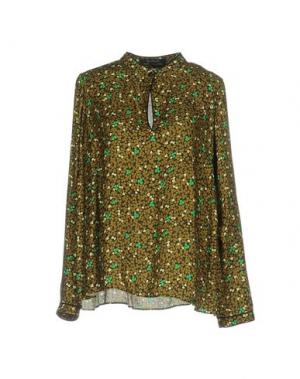Блузка KRISTINA TI. Цвет: зеленый-милитари