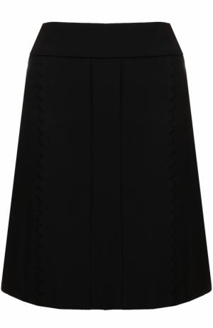 Однотонная юбка А-силуэта Tara Jarmon. Цвет: черный