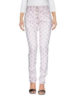 Джинсовые брюки TANTRA. Цвет: розовый