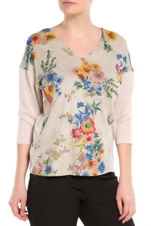 Блузка E.LEVY. Цвет: цветы