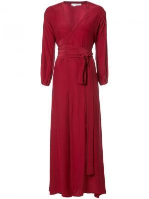 Платье Jagger с запахом Rhode Resort. Цвет: красный