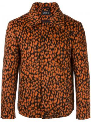 Куртка с леопардовым узором Misbhv. Цвет: жёлтый и оранжевый
