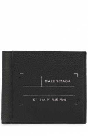 Кожаное портмоне с отделениями для кредитных карт Balenciaga. Цвет: черный
