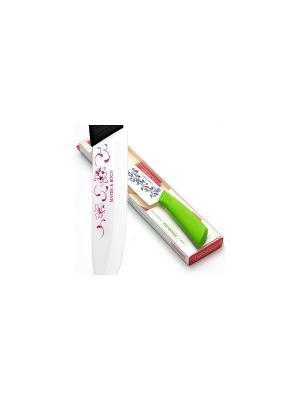 Ножи кухонные MAYER-BOCH. Цвет: белый, зеленый
