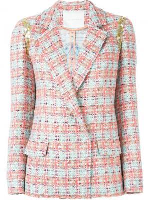 Тканый пиджак Giada Benincasa. Цвет: многоцветный