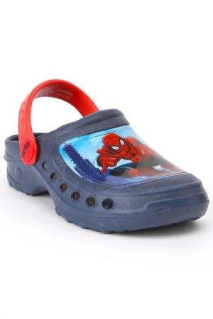 Сандалии Spiderman. Цвет: синий, красный