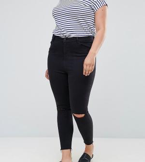New Look Plus Моделирующие джинсы Curve. Цвет: белый
