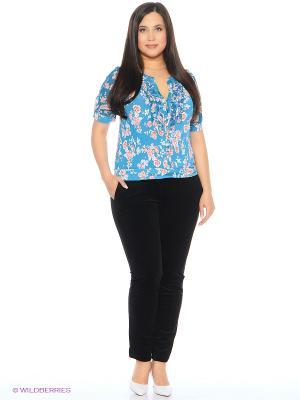 Блузка Milana Style. Цвет: голубой