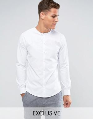 Noak Облегающая рубашка без воротника. Цвет: белый
