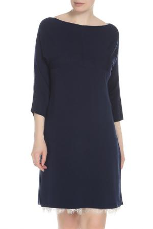 Платье TWIN-SET. Цвет: синий