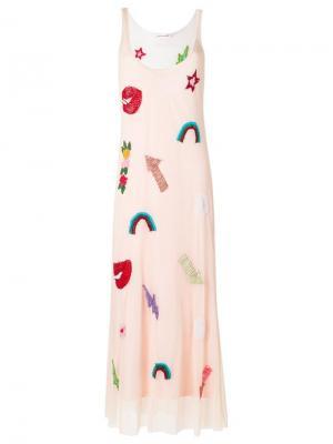 Maxi dress Isabela Capeto. Цвет: розовый и фиолетовый