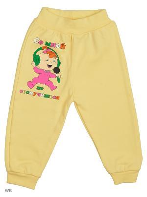 Штаны для новорожденных Bonito kids. Цвет: желтый