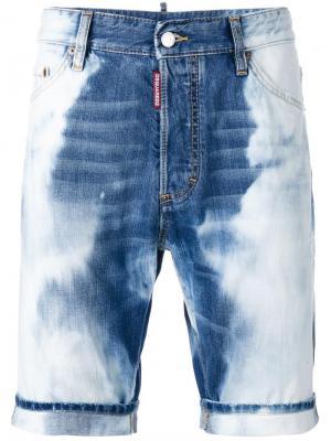Сильно выбеленные джинсовые шорты Dsquared2. Цвет: синий