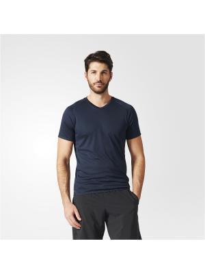 Футболка спортивная муж. CHILL TEE Adidas. Цвет: синий
