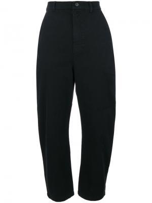 Укороченные брюки  с завышенной талией Henrik Vibskov. Цвет: чёрный