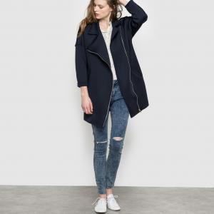 Пальто длинное SUNCOO. Цвет: темно-синий