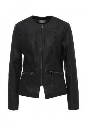Куртка кожаная Oasis. Цвет: черный