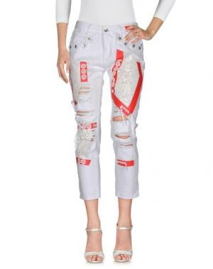 Джинсовые брюки ANGELA MELE MILANO. Цвет: белый