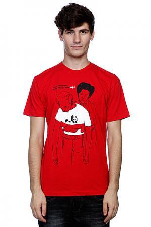 Футболка  Mom Loves Me Premium Red Enjoi. Цвет: красный