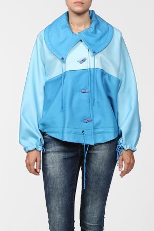 Пальто World Style. Цвет: голубой