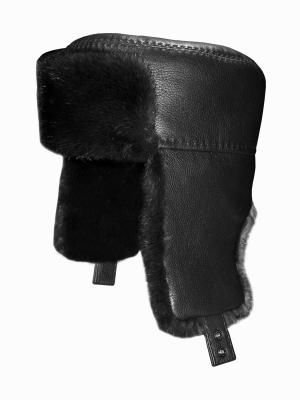 Шапка-ушанка Bos Bison. Цвет: черный