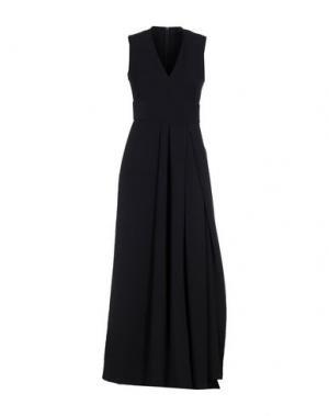 Длинное платье LAVINIATURRA. Цвет: темно-синий