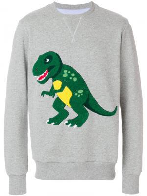 Толстовка с динозавром Lc23. Цвет: серый