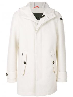 Пальто с капюшоном Rrd. Цвет: белый
