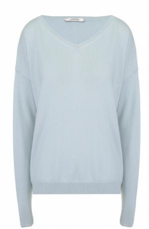 Кашемировый пуловер свободного кроя с V-образным вырезом Dorothee Schumacher. Цвет: голубой